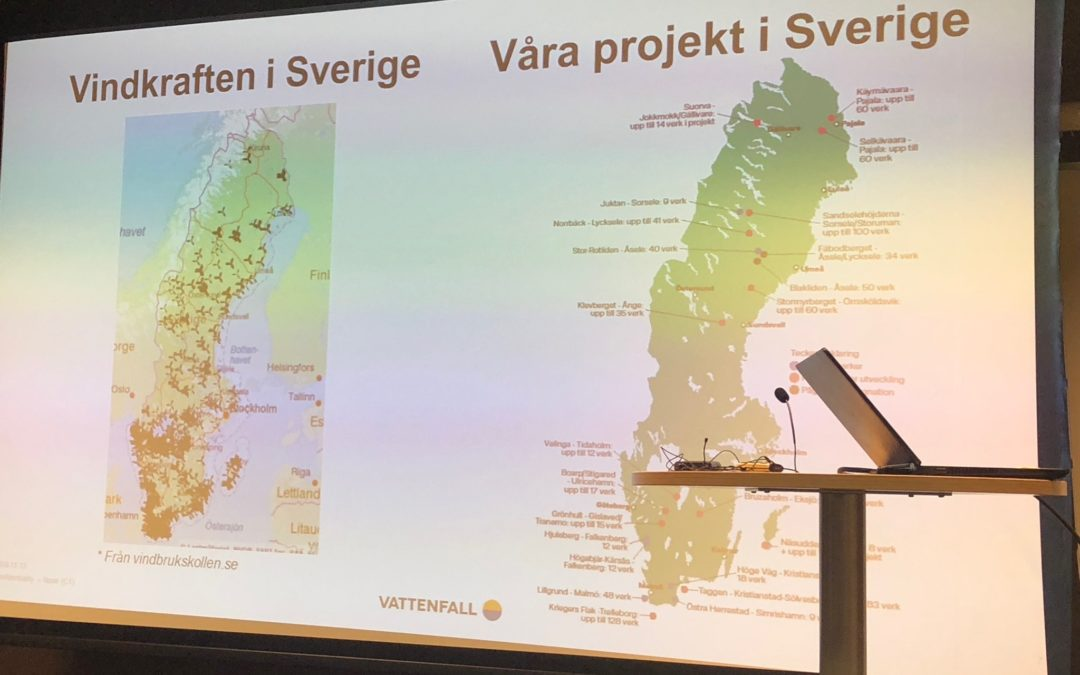 Vindkraft seminarium i Storuman 13 november 2018